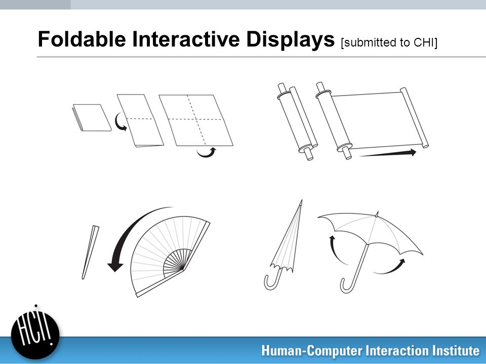 Foldable Interactive Displays [submitted to CHI]